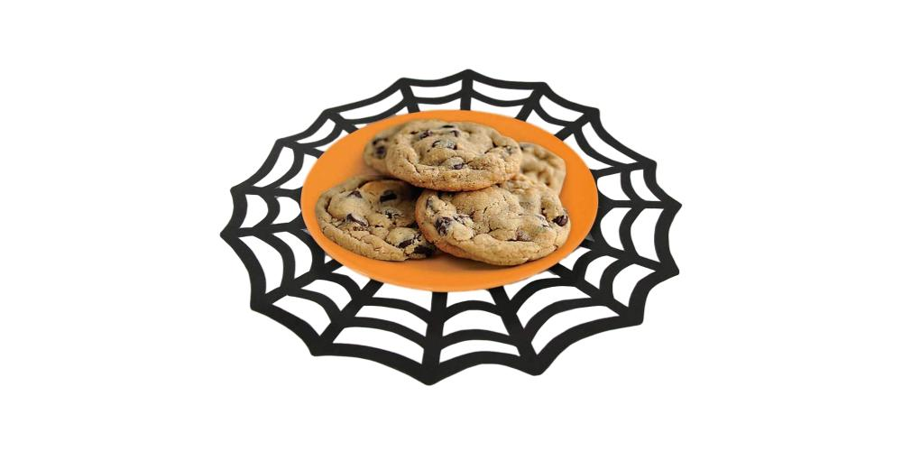 Halloween Black Spider Web Doilies – 8 Count