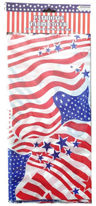 Patriotic Americana Plastic Table Cover – 2 Pieces