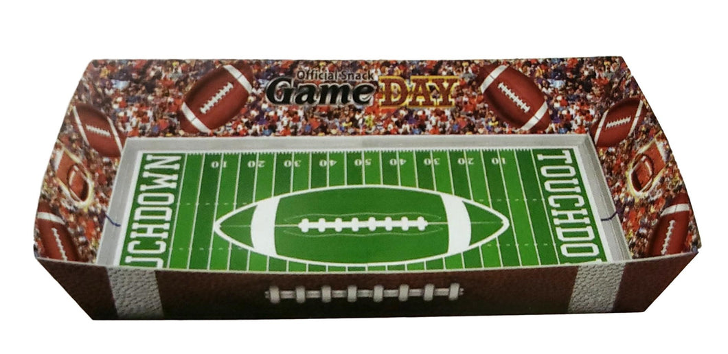 Football Paper Snack Serving Tray – 2 Count