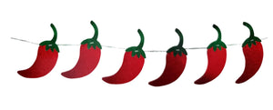 Fiesta Time Red Chili Pepper Diamond Banner Hanging Decoration