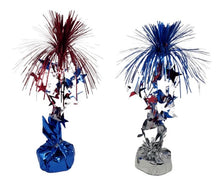 Load image into Gallery viewer, Patriotic Tinsel 12-inch Centerpiece Balloon Weight 2 Assorted