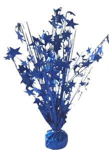 Royal Blue Star 15-inch Holographic Balloon Weight Centerpiece
