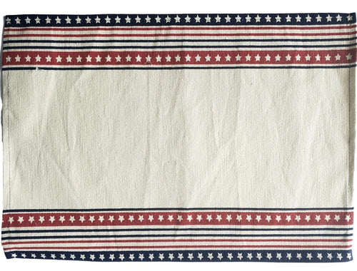 Patriotic Americana Printed Stars and Stripes Placemats – Set of 4