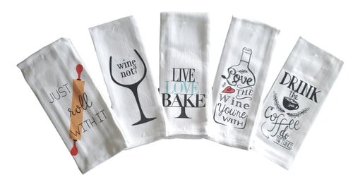 Funny Sayings Kitchen Towels – Set of 5