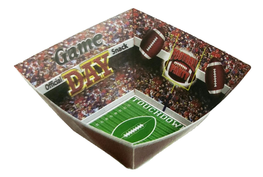 Football Paper Snack Serving Bowl – 2 Count