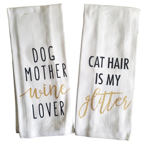 Pet Lover Kitchen Towels – Set of 2