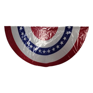 Patriotic American Flag Bunting 2 Assorted Styles