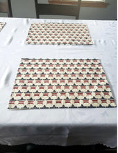 Load image into Gallery viewer, Patriotic Americana Printed Red, White and Blue Flag Stars Placemats – Set of 4