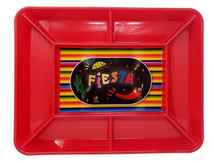 Fiesta Time Plastic Snack Tray Serving Platter 14 X 18 inches