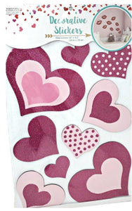 Valentine's Day Wall Stickers Pink Hearts