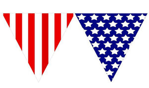 Patriotic Pennant Banner 12ft long- 1pc