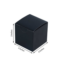 "Load image into Gallery viewer, 2"" x 2"" Black Party Candy Favor Paper Boxes – 12 Pieces"