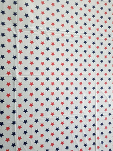 Patriotic Red, White and Blue Stars Plastic Table Cover – 2 Pieces