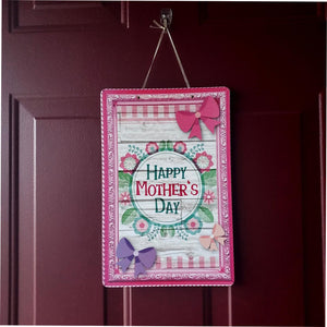 """Happy Mother's Day"" hanging decoration with flowers and bows"