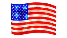 Load image into Gallery viewer, Patriotic Flag Lighted Window Decoration - 1 Piece
