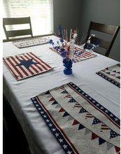 Load image into Gallery viewer, Patriotic Red, White and Blue Star 15-inch Balloon Weight Centerpiece