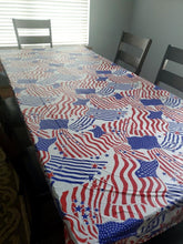 Load image into Gallery viewer, Patriotic Americana Plastic Table Cover – 2 Pieces