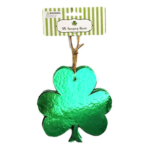 St Patrick's Day Hanging Cutout Metallic Paper Decorations 5 Assorted Styles