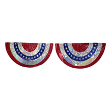 Load image into Gallery viewer, Patriotic American Flag Bunting 2 Assorted Styles