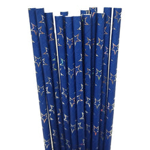 Load image into Gallery viewer, Patriotic 14 Count Stars and Stripes Paper Straws Assorted – 2 Pack