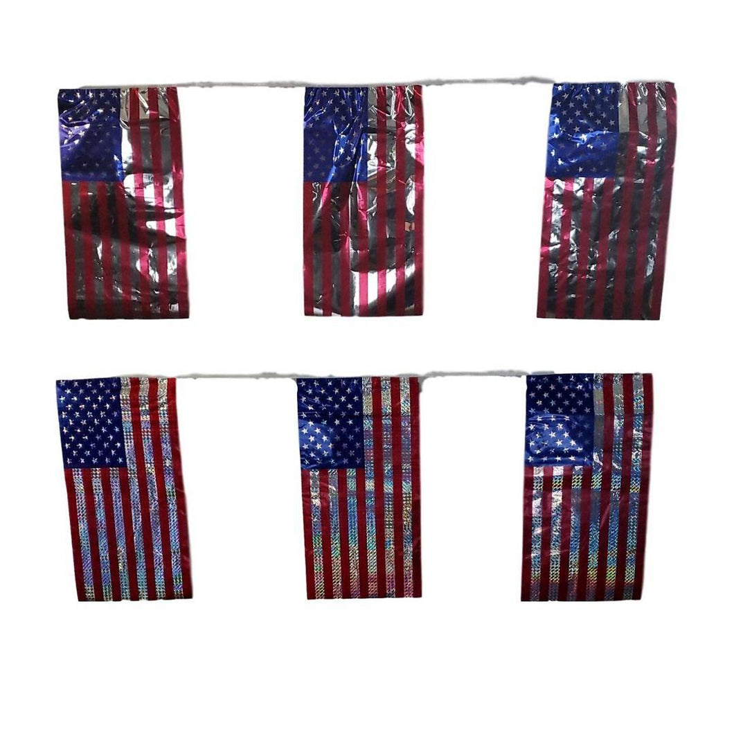 Patriotic American Flag Banner 2 Assorted Styles