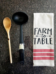 Farmers Table Printed Kitchen Towels – Set of 5