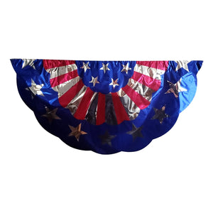 Patriotic American Flag Bunting 3 Assorted Styles