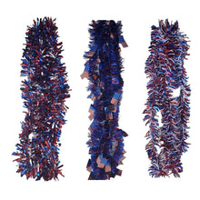 Load image into Gallery viewer, Patriotic Tinsel Skinny Red, White, and Blue Garland