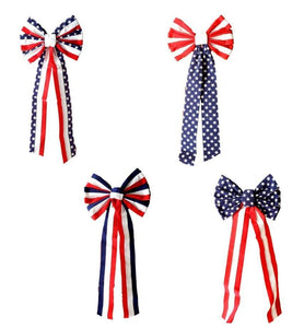 Patriotic 26-inch Velvet Bow 4 Assorted Styles