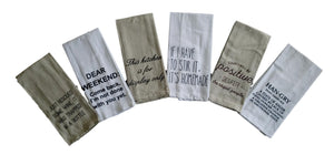 Funny Witty Saying Kitchen Towels – Set of 6