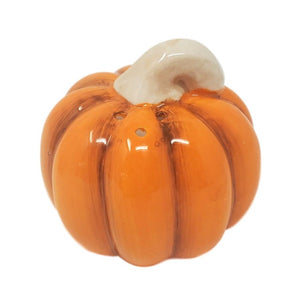 Fall Thanksgiving Pumpkin Basket Ceramic Salt and Pepper Shaker Set
