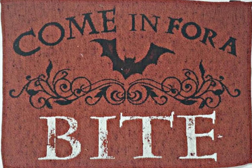 Halloween Come in for a Bite Tapestry 13 x 19 Inch Place Mats - Set of 4