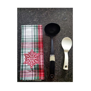 Christmas Woven Kitchen Tea Towels – Set of 4