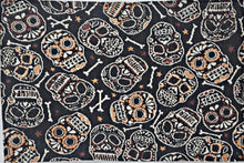 Load image into Gallery viewer, Halloween Skull and Bones Day of the Dead Tapestry Place Mats 13 in x 19 in – Set of 4