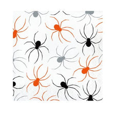 Load image into Gallery viewer, Halloween Spiders Paper Luncheon Napkins – 16 Count