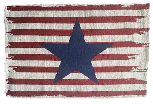 Patriotic Americana Tapestry Blue Star, Red Stripes Placemats – Set of 4