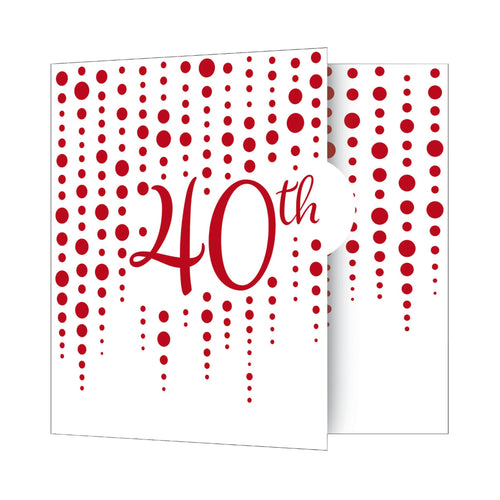 Ruby 40th Anniversary Party Invitations – 8 Count