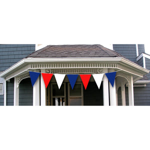 Patriotic Giant 30FT Banner Triangle Red White and Blue