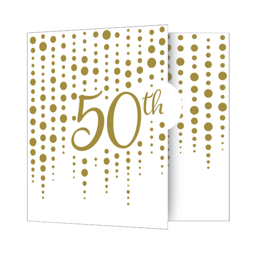 Gold 50th Anniversary Party Invitations – 8 Count