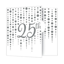 Load image into Gallery viewer, Silver 25th Anniversary Party Invitations – 8 Count