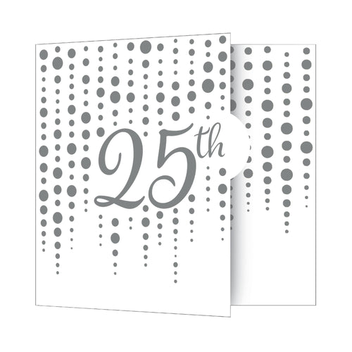 Silver 25th Anniversary Party Invitations – 8 Count