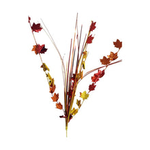 "Load image into Gallery viewer, Harvest Time 19"" Decorative Fall Leaves Spray – 4 Pieces"