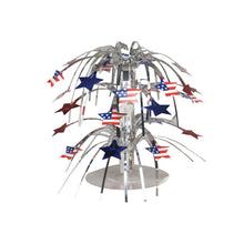 Load image into Gallery viewer, Patriotic Foil Cascade Centerpiece