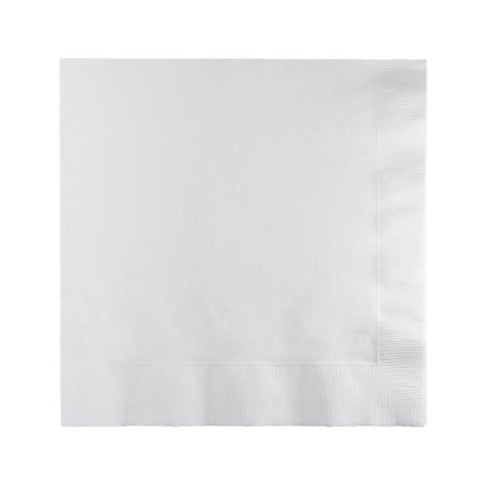White Plain Solid Color Paper Disposable Luncheon Napkins
