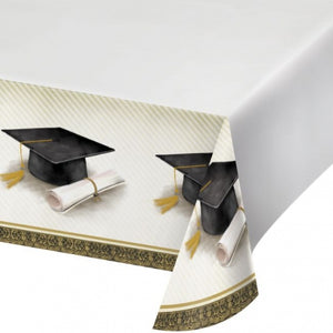 Classic Graduation Plastic Tablecloth 54in x 102in