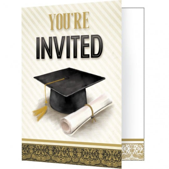Graduation Classic Fold over Invitations – 8 Count