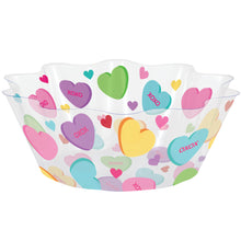 "Load image into Gallery viewer, Valentine's Day 8"" Plastic Serving Bowl"