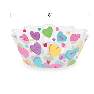 "Valentine's Day 8"" Plastic Serving Bowl"