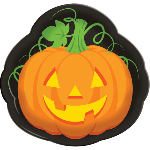 Halloween Jack-o-Lantern Pumpkin Serving Tray – 1 Piece