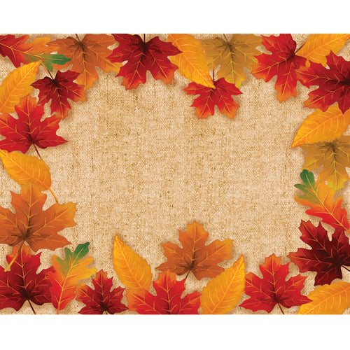 "Harvest Fall Leaves Paper Placemats 12"" X 15"" – 12 Count"